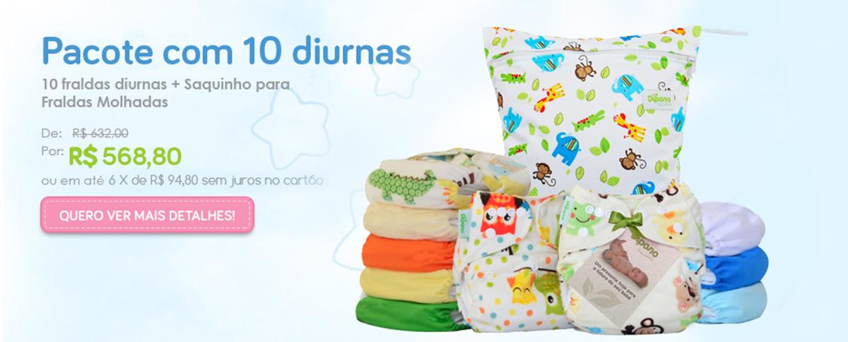 Banner Pacote com 10 Diurnas Bichinhos